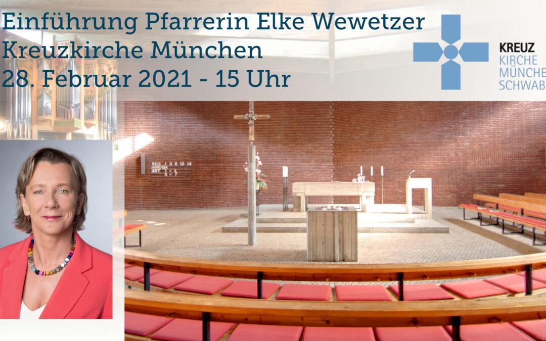 Pfarrerin Wewetzer in Kreuzkirche und per LIVESTREAM in ihr Amt eingeführt!